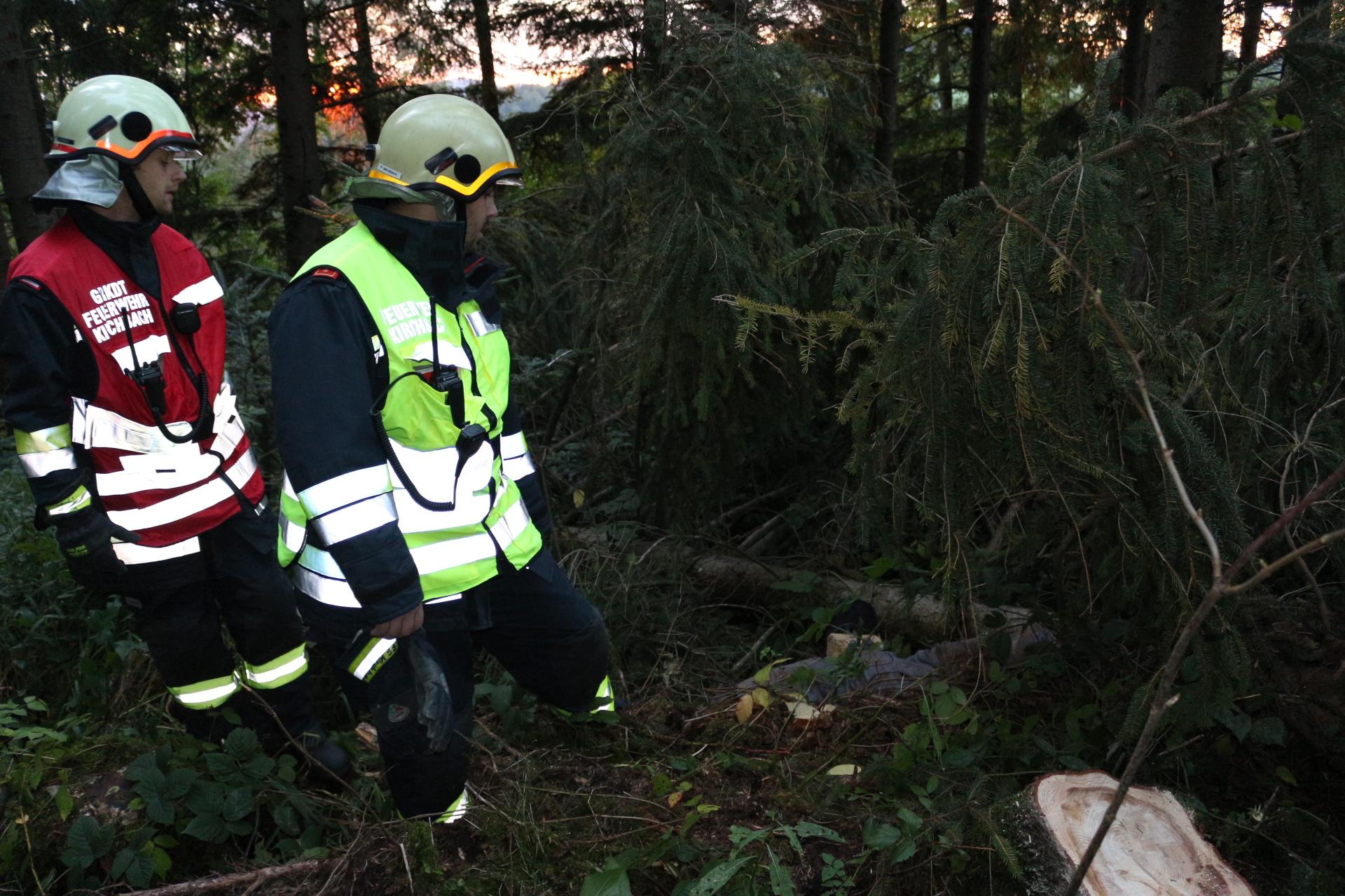 Herbstübung – Forstunfall