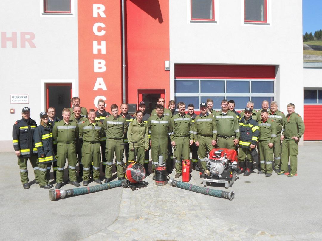 5. Maschinisten Lehrgang  der Abschnitte Rohrbach und Aigen in Kirchbach