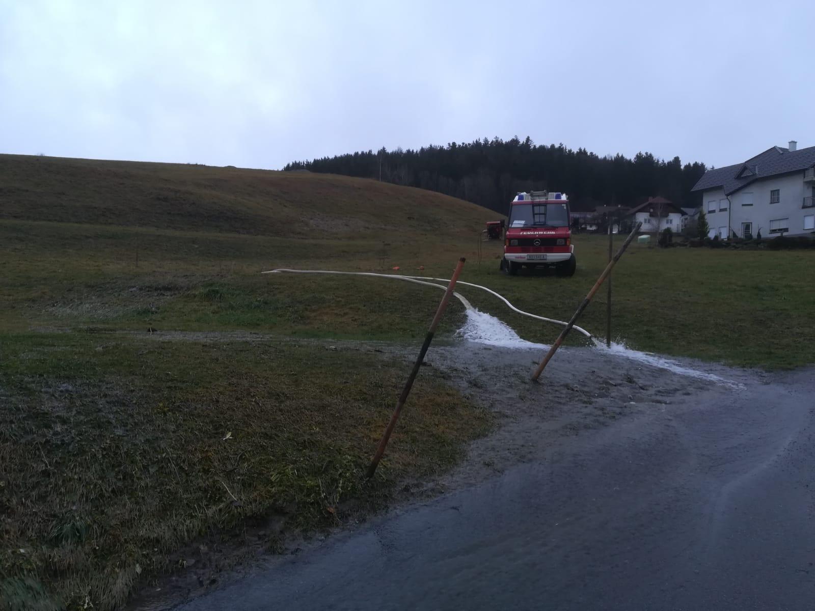 Überflutung Kirchbacher Bach